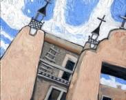 """San José de García,"" oil on panel by Melwell Romancito, 8x10"