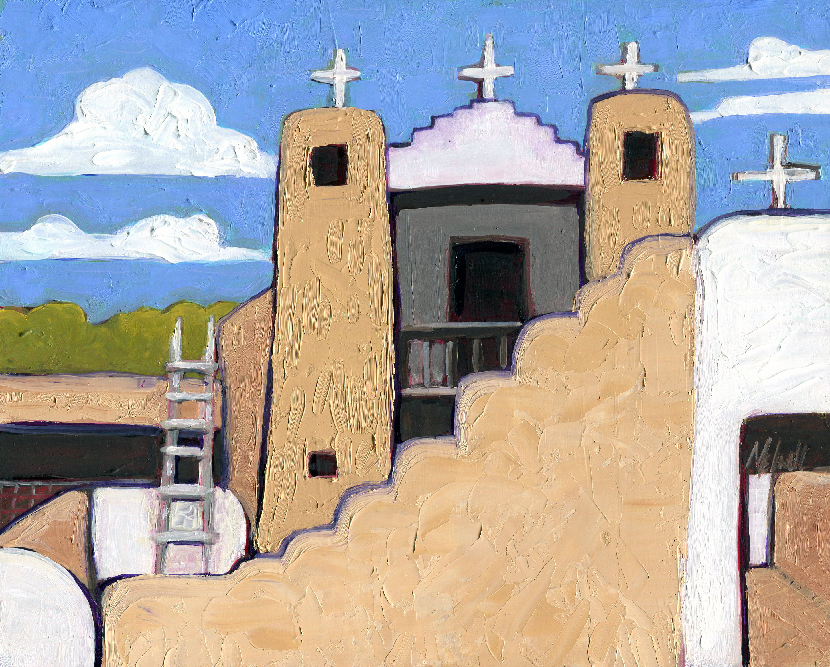 """""""San Geronimo,"""" oil on panel by Melwell Romancito, 8x10"""