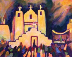 """""""Return of the Procession,"""" oil on canvas panel by Melwell, 8x10"""