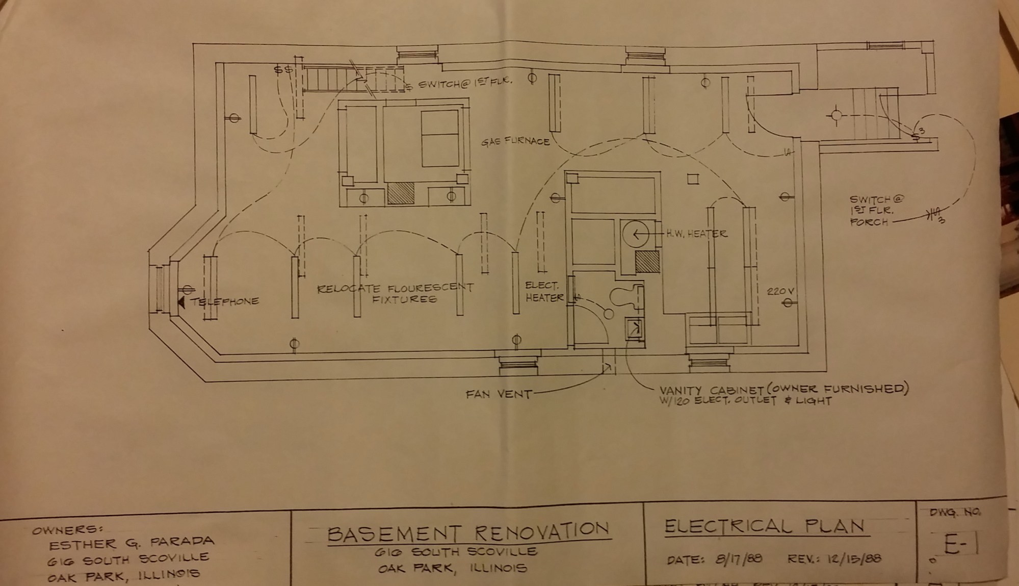 hight resolution of basement electrical