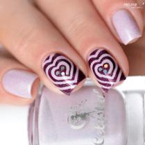 Nail art vinyls coeur 1