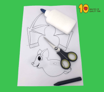 Flying Bat Halloween Craft 10 Minutes of Quality Time