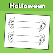 Halloween Spider Printable Bracelet 10 Minutes of