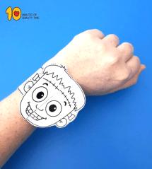 Halloween Frankenstein Printable Bracelet 10 Minutes of
