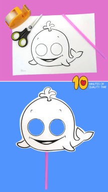 Whale Paper Mask 10 Minutes of Quality Time
