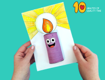 3D Paper Candle Craft 10 Minutes of Quality Time