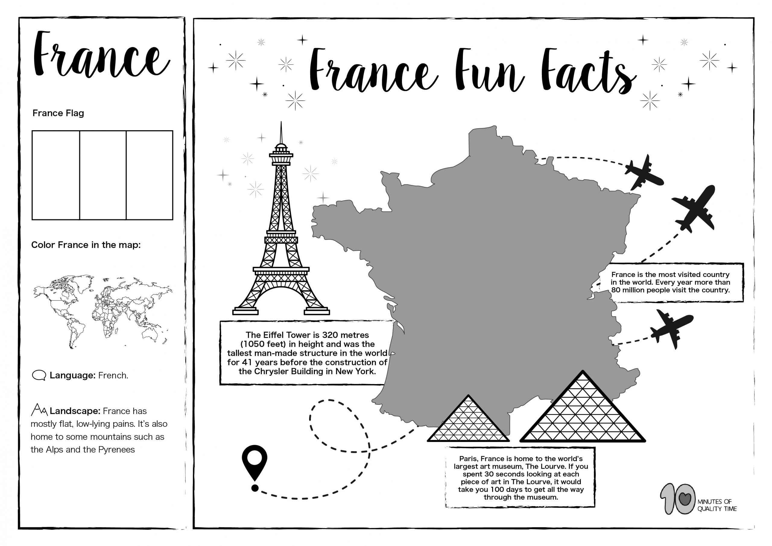 France Free Lesson Plan And Worksheets 10 Minutes Of