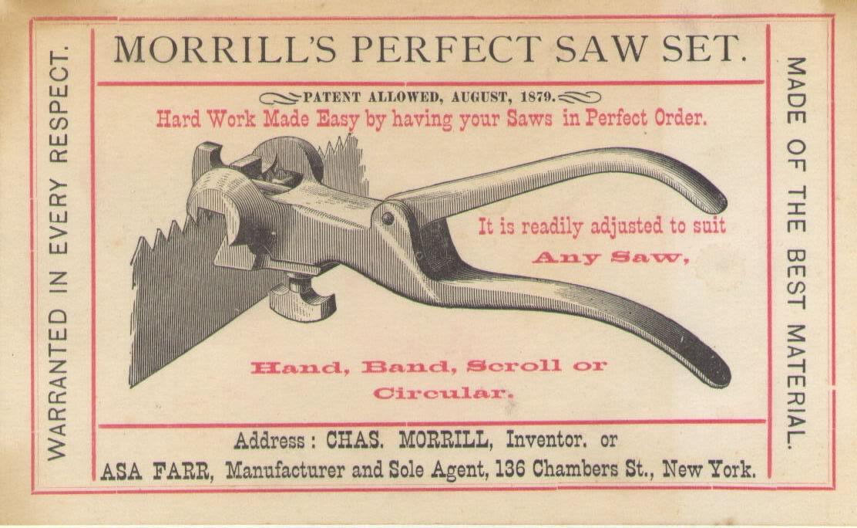 Morrill Saw Set History