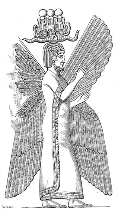 Illustration of relief depicting Cyrus the Great