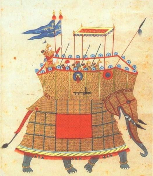Elephant with howdah of the Golconda Sultanate, Qutb Shahi dynasty.