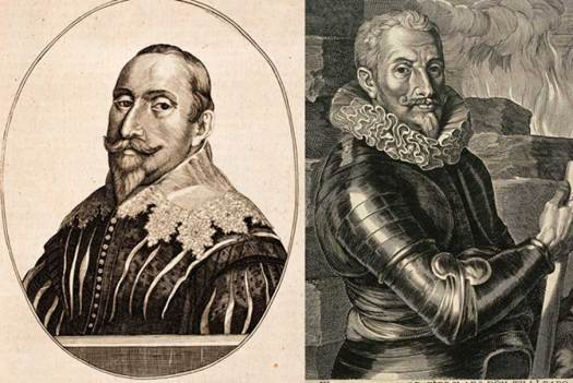 [Left] Engraving of Gustavus Adolphus (Public Domain) and [Right] portrait of Count Johann t'Serclaes von Tilly. (Public Domain)