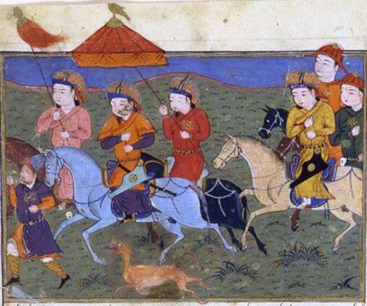 Hulagu Khan leading his army.