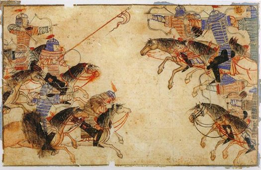 A Mongol melee in the 13th century.