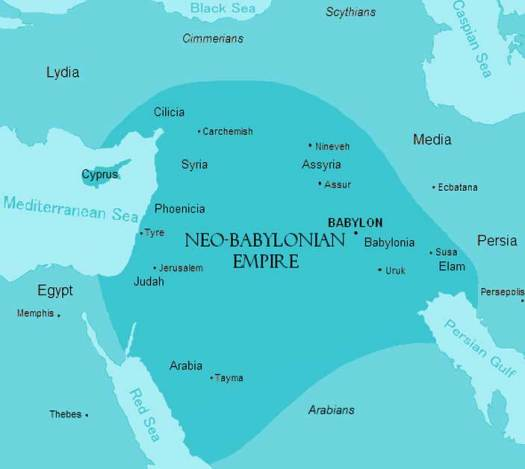 Map of the Neo-Babylonian Empire.