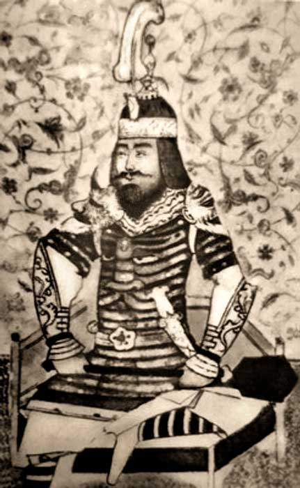 Portrait of Timur. 15th century