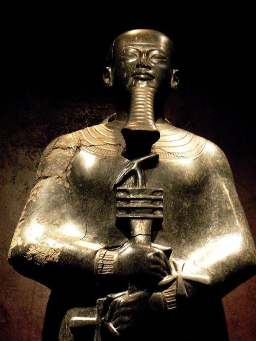 Statue of Ptah, Egyptian deity of craftsmen, architects and creation.