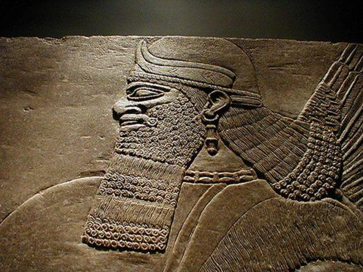 Detail of Sumerian stele.