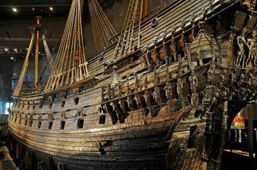 The Vasa, early 17th century warship, was ordered by King Adolphus and built at the Stockholm shipyard by Henrik Hybertsson - an experienced Dutch shipbuilder. Vasa was to be the mightiest warship in the world, armed with 64 guns on two gundecks.