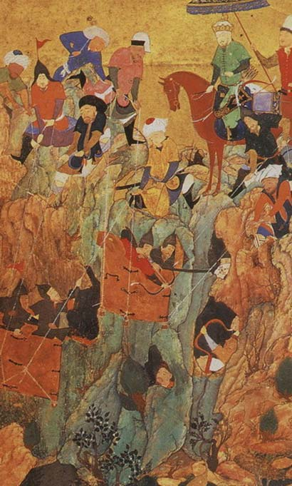 Timur's army attacks the survivors of the town of Nerges, in Georgia, in the spring of 1396. Representational image
