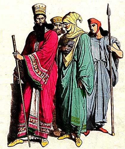 "Modern Artistic portrayal ""Mede"" Nobleman, ""Persian"" Nobleman, Persian."