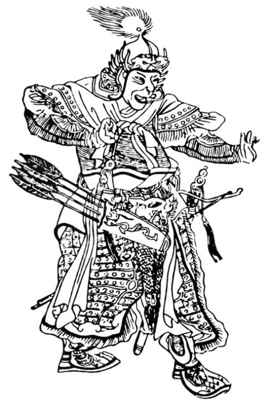 Subutai. Medieval Chinese drawing.