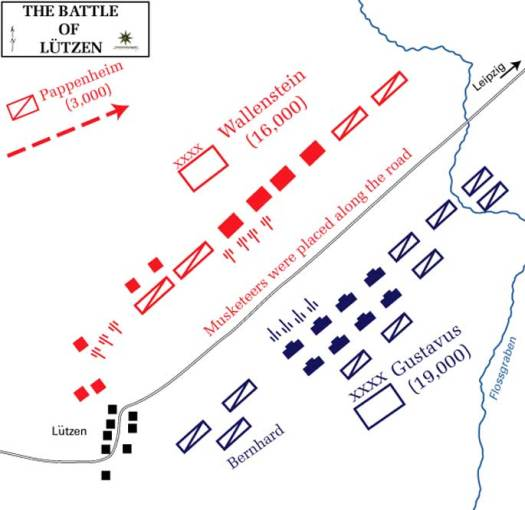 Map of the troop dispositions.