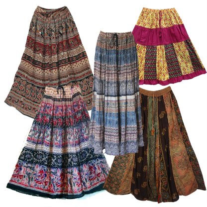 Vintage Gauze Indian Skirts