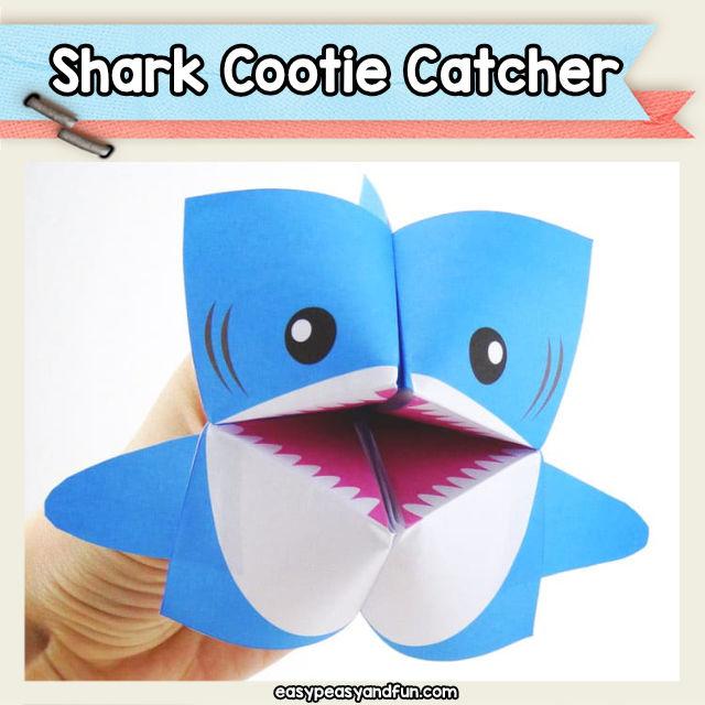 shark fortune teller cootie