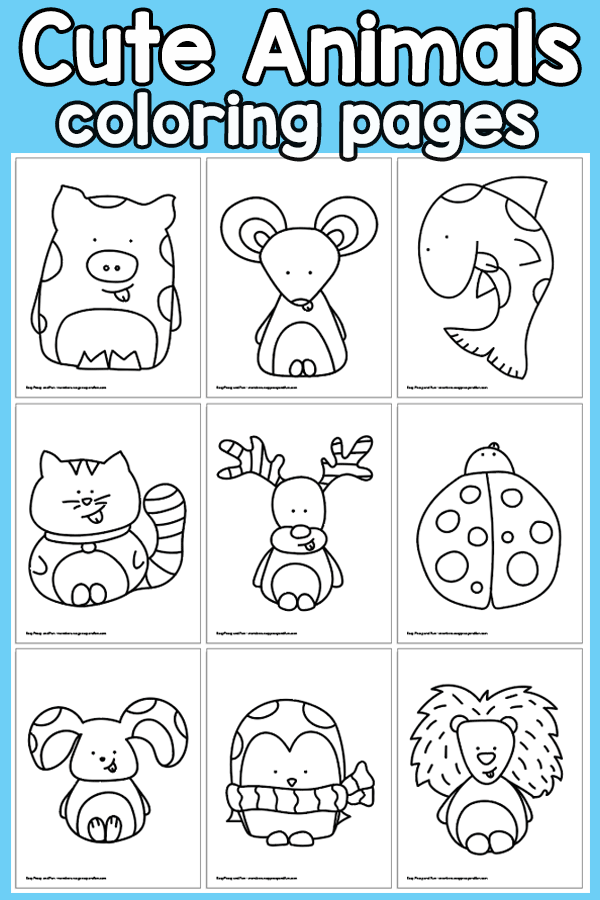 Animal Coloring Pages Easy : animal, coloring, pages, Animals, Coloring, Pages, Peasy, Membership