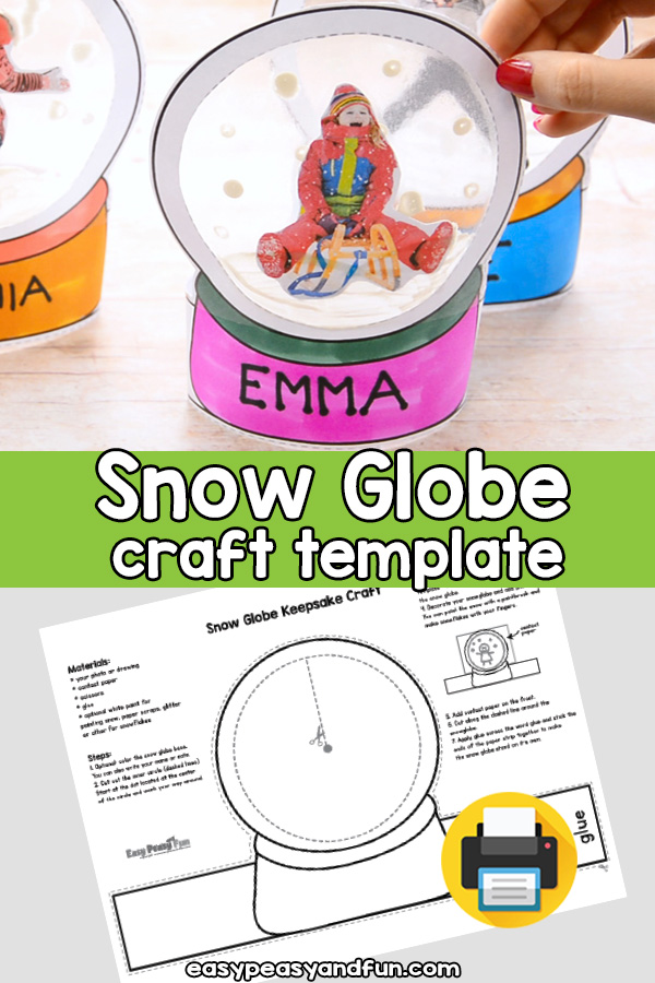 Snow Globe Keepsake Craft Template Easy Peasy And Fun Membership