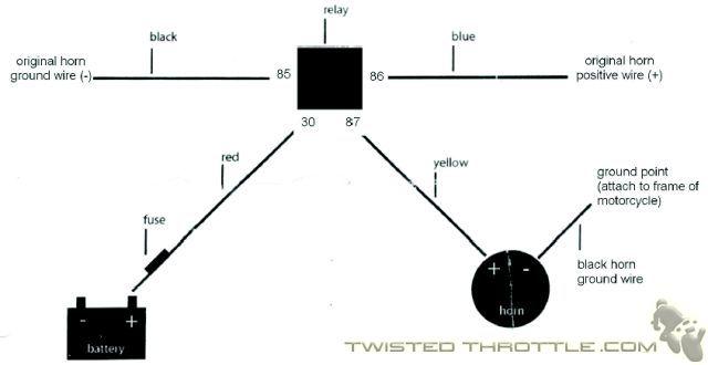 Modern Vespa : magnum horn wiring diagram??