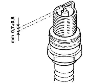 Modern Vespa : Spark electrode gap