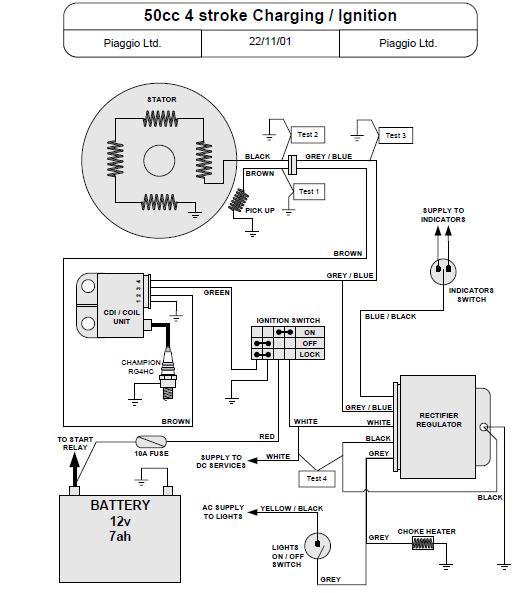 6 pin ac cdi box wiring diagram aiphone c ml ducati great installation of modern vespa swap rh modernvespa com 5 wire 110cc