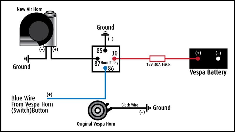 basic vespa 12v wire diagram