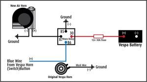 Modern Vespa : Tutorial: Installing a Stebel Airhorn on a