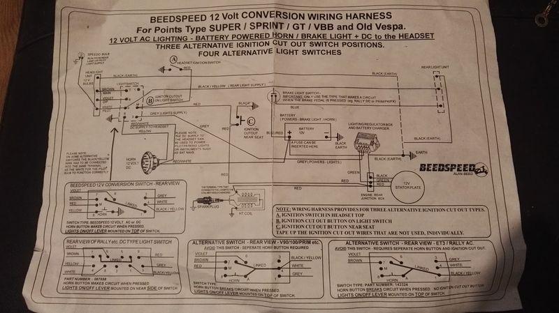 Wiring Diagram Vespa Strada