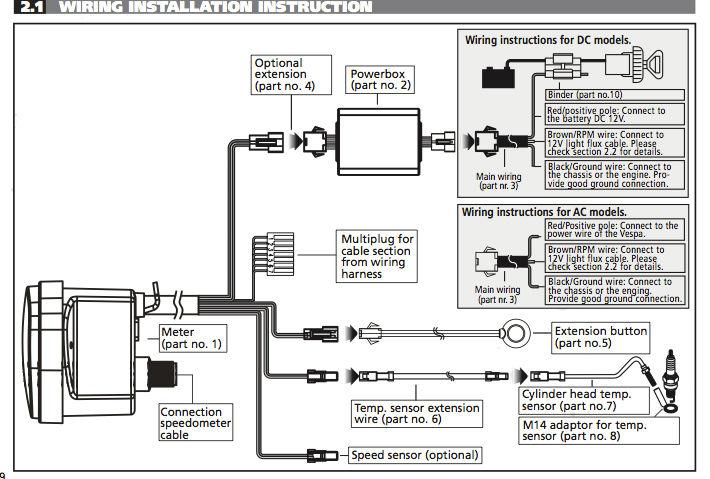 Modern Vespa : SIP Digital Speedo Install