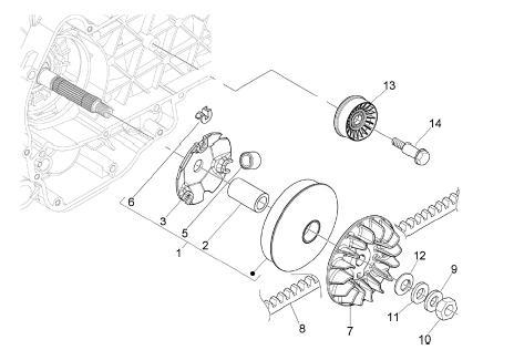 Modern Vespa : Overtorqued the clutch nut-drum bell stuck on