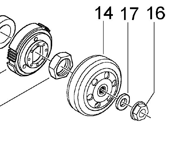 Modern Vespa : Am I missing a part here (from LX clutch)?