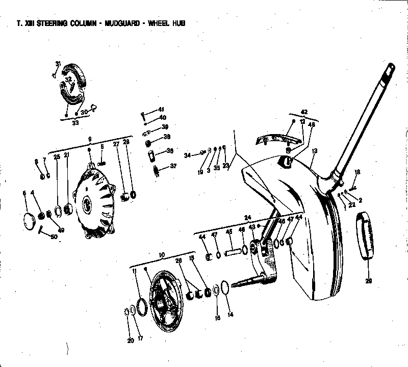 vespa px disc front hub diagram