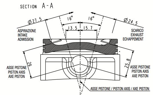 Modern Vespa : Malossi V4 Head, The Missing Measurements