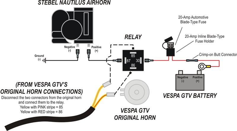 horn wiring diagram for motorcycle