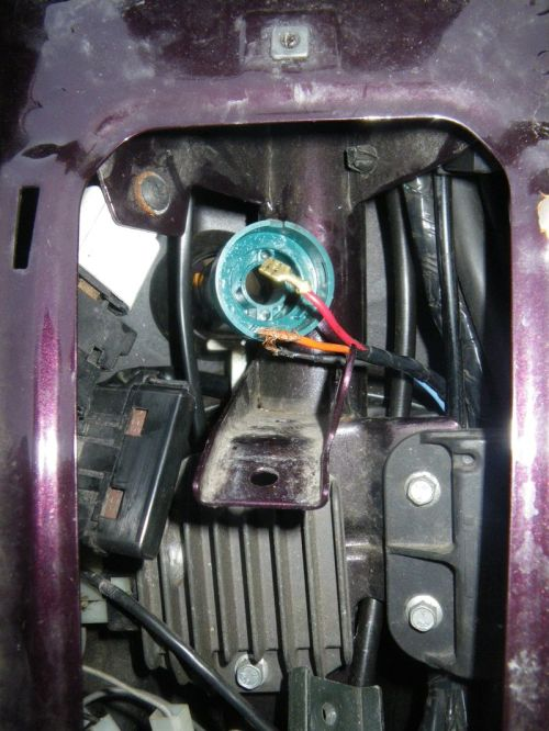 small resolution of this is a photo through the horn shield with the fuse box and horn removed