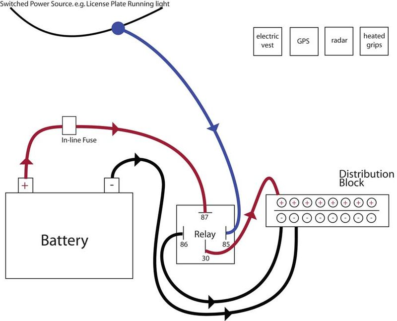 Modern Vespa : Good article for adding a relay controlled
