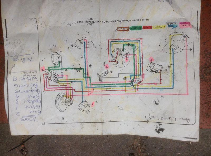 Wiring Diagram Vespa P150x