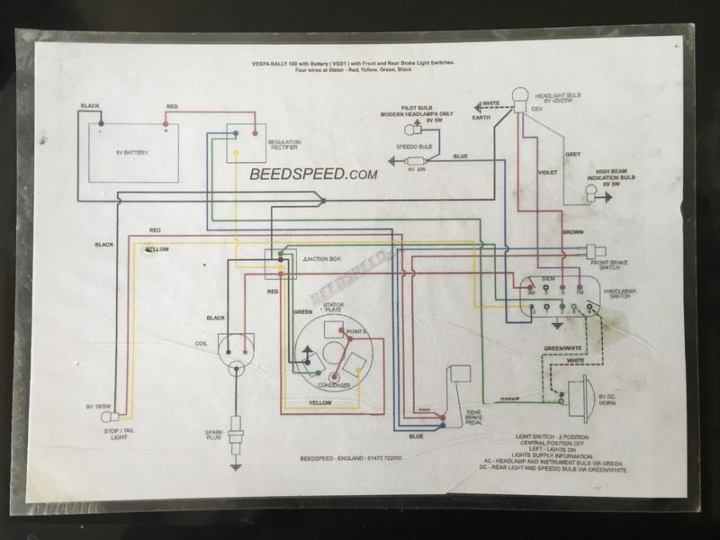 Vespa Px 125 Wiring Diagram Modern Vespa Wiring Connector To Bulb