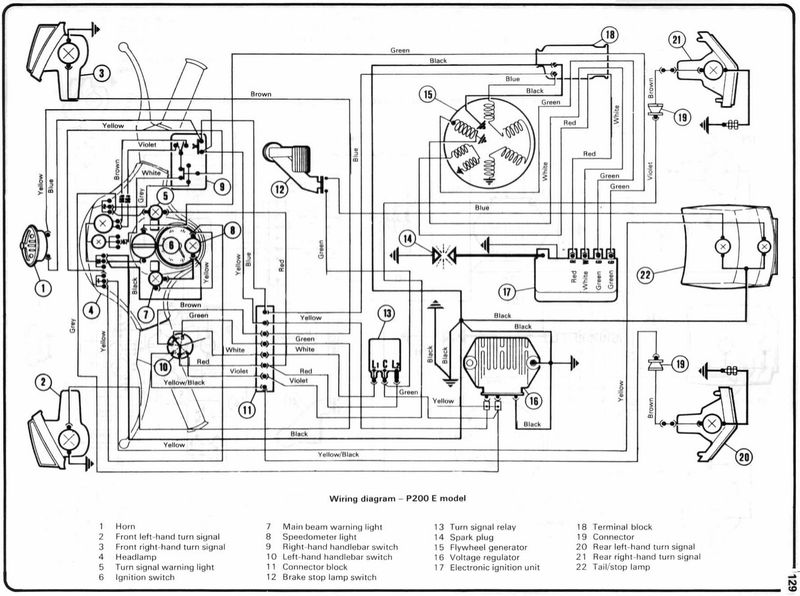 Vespa P125x Wiring Diagram : 26 Wiring Diagram Images