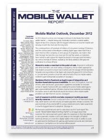 Mobile Wallet Outlook, December 2012