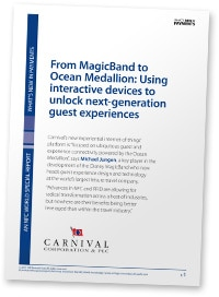 "Cover: ""From MagicBand to Ocean Medallion: Using interactive devices to unlock next-generation guest experiences"""