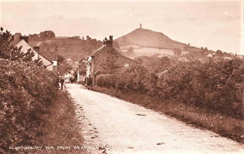 Old Postcard Glastonbury Tor